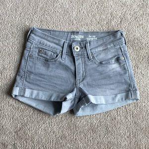 Levi's Denizen Gray Shortie Shorts
